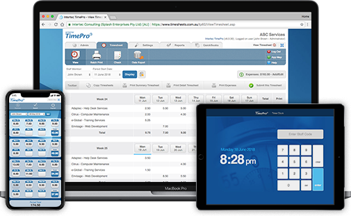 timesheet time tracking and web timesheets intertec timepro