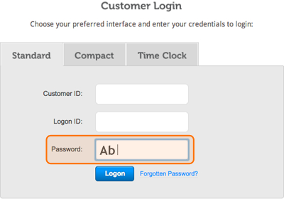 Password verification is now case sensitive